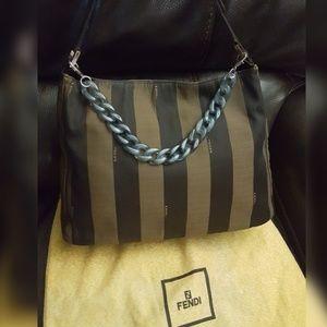 Authentic Fendi Pequin handbag